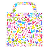 Bag For Shopping. Vector Stock Image