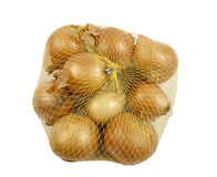 Bag of fresh Onions Royalty Free Stock Photo