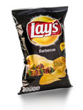 Bag of Frito Lay Barbecue potato chips. Chisinau, Moldova _ March 25, 2016: Bag of Frito Lay Barbecue potato chips. Frito-Lay is the worlds largest distributed Stock Photography