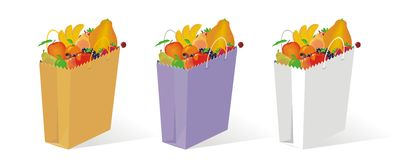 Bag of fruit Royalty Free Stock Images
