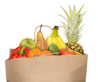 Bag of fruits Royalty Free Stock Images