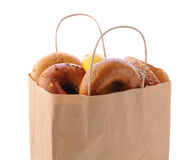 Bag Full of Bagels Royalty Free Stock Photography