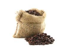 Bag full of beans Royalty Free Stock Image