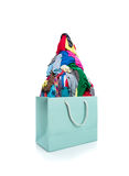 Bag full of clothes Royalty Free Stock Image