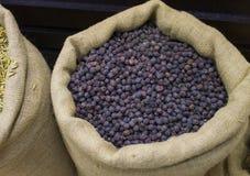 Bag full of dried rose berries stock photo