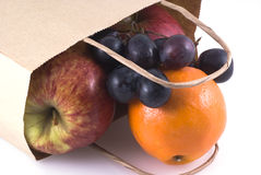 Bag full of fruits. Stock Photos