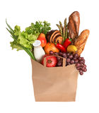 Bag full of healthy food Royalty Free Stock Photography