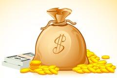 Bag Full of Money Royalty Free Stock Photo