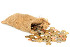 Bag full of money Stock Photo