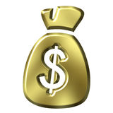 Bag full of money Stock Photography