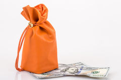 Bag full with money Royalty Free Stock Images
