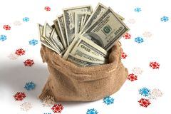Bag full of money Stock Images