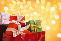 Free Bag Full Of Christmas Present Stock Photos - 12066493