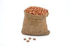 Bag full of peanuts Stock Image