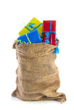 Bag full of Sinterklaas presents Stock Images