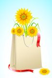 Bag full of Sunflower Stock Photo