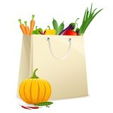 Bag full of Vegetables Stock Image