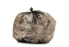Bag with garbage isolated over white Stock Photos