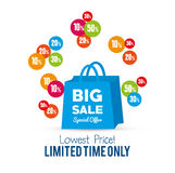Bag gift big sale special offer Stock Photography