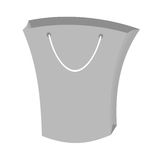 Bag gift shopping papper gray color Stock Image