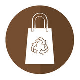 Bag gift shopping recycle shadow Royalty Free Stock Photos