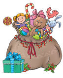 Bag with gifts Royalty Free Stock Photos