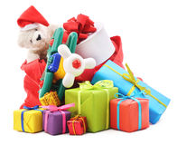 Bag of gifts. Stock Image