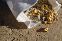 Bag of gold Stock Photography