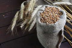 Bag with grain Royalty Free Stock Image