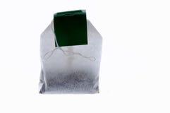 Bag of green tea Stock Photography