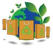 Bag green world concept Stock Photo