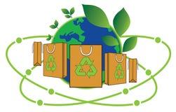 Bag for green world Stock Photos