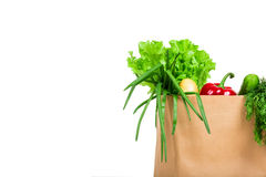 Bag with groceries Stock Image