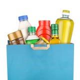 Bag of groceries Stock Photos