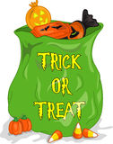 Bag of Halloween cndy royalty free stock photo