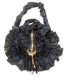 Bag handwork, design Black rose Royalty Free Stock Photography