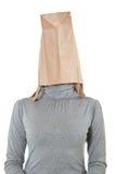 Bag on head Stock Photography