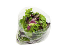 Bag of healthy fresh spring salad Stock Images