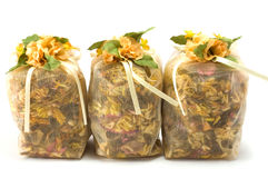 Bag with herbs Stock Image