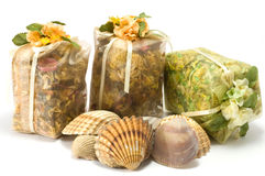 Bag with herbs Royalty Free Stock Image