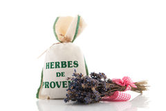 Bag herbs and Lavender Stock Image