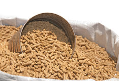 Bag of horse feed Royalty Free Stock Image