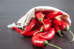 A bag of hot chili Stock Photo