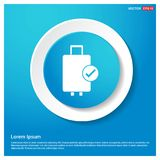 Bag icon Abstract Blue Web Sticker Button. Free vector icon - This Vector EPS 10 illustration is best for print media, web design, application design user Stock Photos