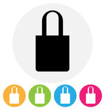 Bag icon. Isolated on white Royalty Free Stock Image