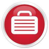 Bag icon premium red round button Royalty Free Stock Photos
