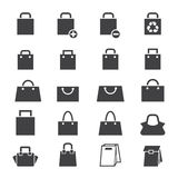 Bag icon set Royalty Free Stock Photo