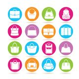 Bag icons Royalty Free Stock Photography
