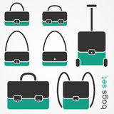 Bag icons set Royalty Free Stock Photo