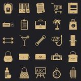 Bag icons set, simple style. Bag icons set. Simple set of 25 bag icons for web for any design vector illustration